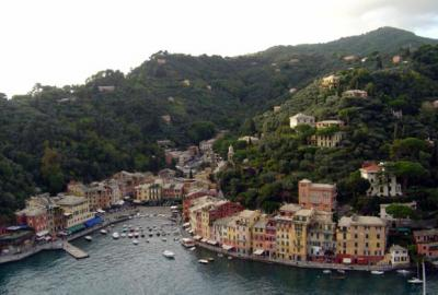 Portofino town from Castle view