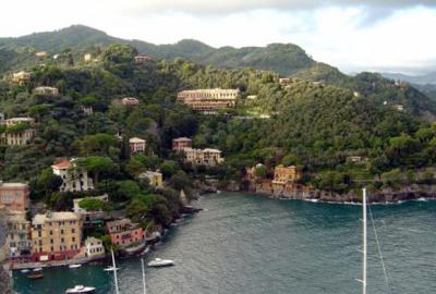 Portofino from Castle view