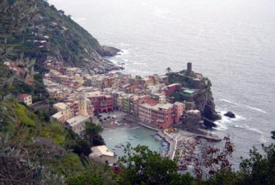 Vernazza Cinque Terre from hiking trail