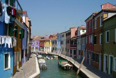 Colorful Canal Island of Burano