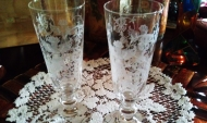 Florence etched Grottesche pattern champagne