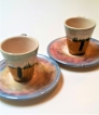 Tuscany Italy Ceramic Espresso Cups Set of 2 image
