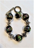 Murano Glass Venice Bracelet Midnight Oasis